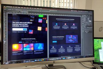 grey flat screen computer monitor